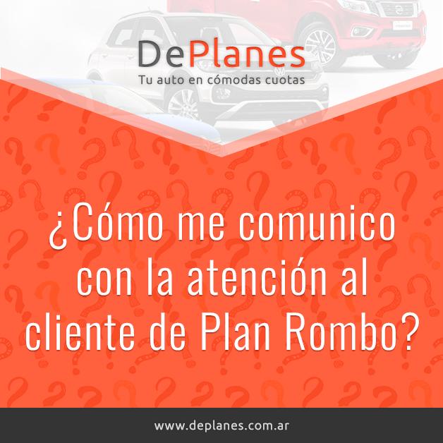 ¿Cómo me comunico con la atención al cliente de Plan Rombo?
