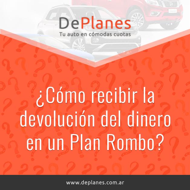 ¿Cómo recibir la devolución del dinero en un Plan Rombo?