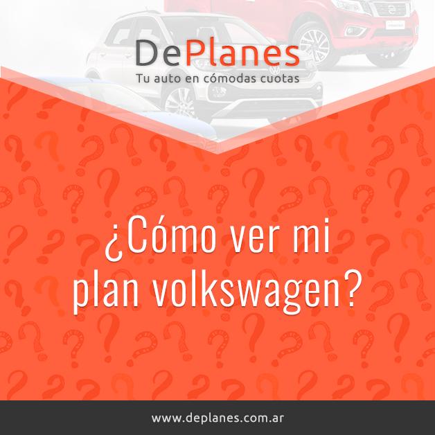 ¿Cómo ver mi plan volkswagen?